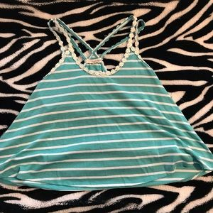 Rewind sea foam green tank top